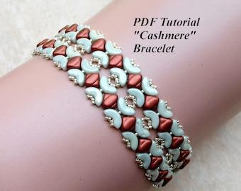 "Bead Pattern, Beading Bracelet Tutorial, Arcos Beads PDF Tutorial, DIY Bracelet, Beading Pattern, Beaded Bracelet, ""Cashmere"" Bracelet"