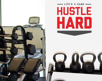 Hustle Hard Wall Decal