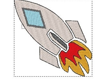 Machine embroidery download file, rocket embroidery, available in 9 formats, instant download, embroidery file ONLY