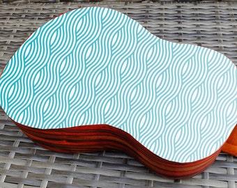 Ukulele decal wave design