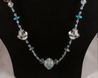 Blue Chunk Necklace