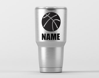 Basketball (Personalization Available) / Yeti Decal / Vinyl Decal / Yeti Tumbler Decal / Yeti Cup Decal / RTIC / *Tumbler Available *