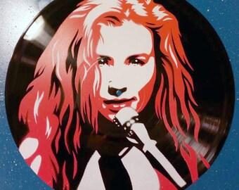 "Tori Amos Stencil on 12"" Vinyl Record"