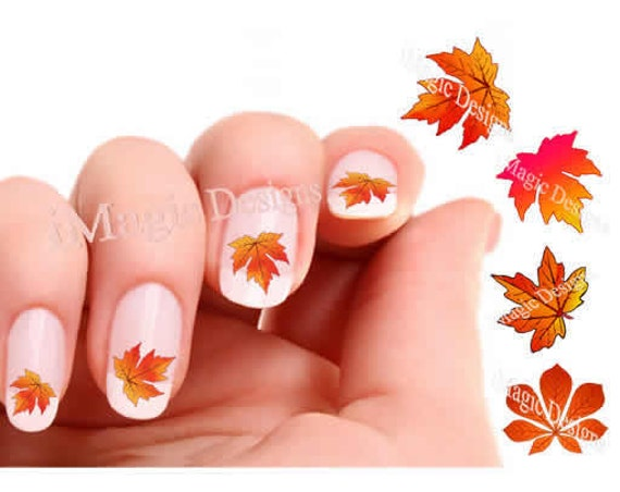 Nail Decals, Water Slide Nail Transfer Stickers for Autumn, Fall ...