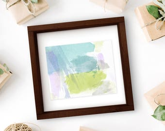 8x10 Peaceful Hues Abstract Watercolor Print