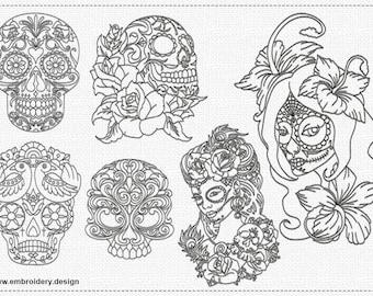 Santa muerte tattoo | Etsy