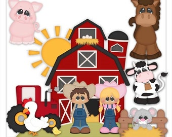DIGITAL SCRAPBOOKING CLIPART - Farm Livin
