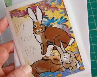 Easter Bunnies (papercut card)