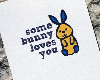 Fathers Day Card - Some Bunny Loves You