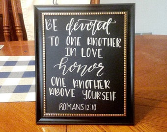 Decorative Sign - Romans 12:10