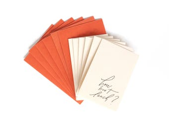 Little Card Set of 6, How 'Bout Lunch, 2x3.5 with Envelope