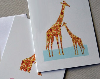Giraffe and Baby, Baby, New baby card, Greeting card, New Stockist Special Free Shipping Starter Pack, Starter Packs, New Stockist Special
