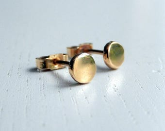Gold stud earrings, recycled 9ct gold earrings, gold jewellery