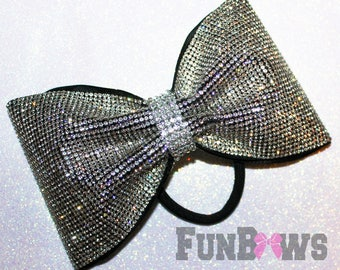 Absolutely AMAZING Rhinestone tailless Cheer Bow - over 6,000 stones - by FunBows