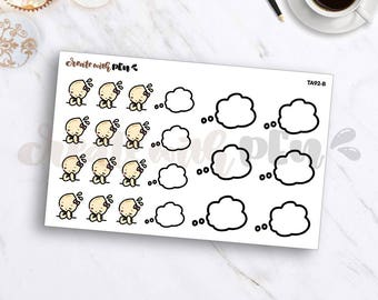 TA92-B | Tinta | DAY DREAMING | Planner Stickers