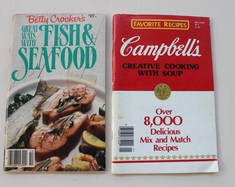 Campbell's Creative Cooking with Soup, Betty Crocker's Great Ways with Fish & Seafood, Vintage Cookbooks, Recipe Books, Favorite Recipes
