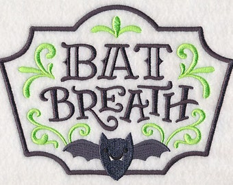Apothecary Bats Breath Embroidered Flour Sack Hand/Dish Towel