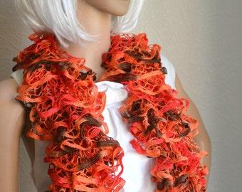 Handknitted women's scarf