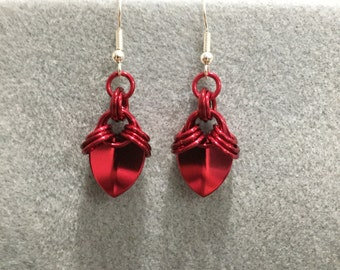 Scale maille earrings