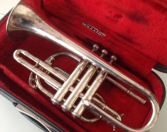Silver plate trumpet