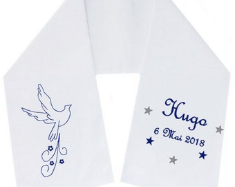 Chiffon scarf personalized embroidered angel free shipping