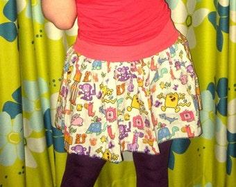 WoW WOW WUBBZY TuTu Skirt any sz from repurposed fabric