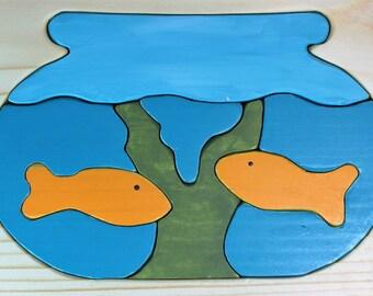 Wooden Aquarium Puzzle