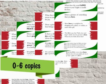 Printable Advent Calendar, Paper Chain With Daily Faith Practices