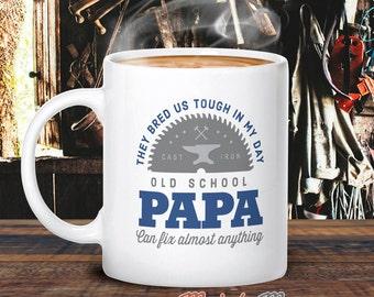 Papa Mug, Birthday Gift For Papa! Old School Papa, Papa Gift. Papa, Papa Present, Papa Birthday Gift, Gift For Papa!