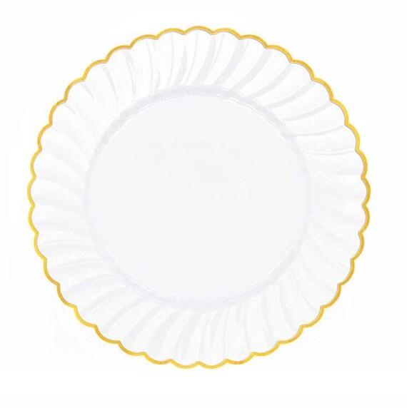 Like this item?  sc 1 st  Etsy & Wedding Plates Set of 20 Plates Nice Plastic PlatesWhite