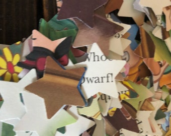 250 Snow White ans 7 Dwarves Bedtime Story Confetti Upcycle Birthday Party Baby Shower Wedding