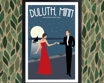Lake Superior Shore Towns Series: Art Deco Duluth, MN Travel Prints