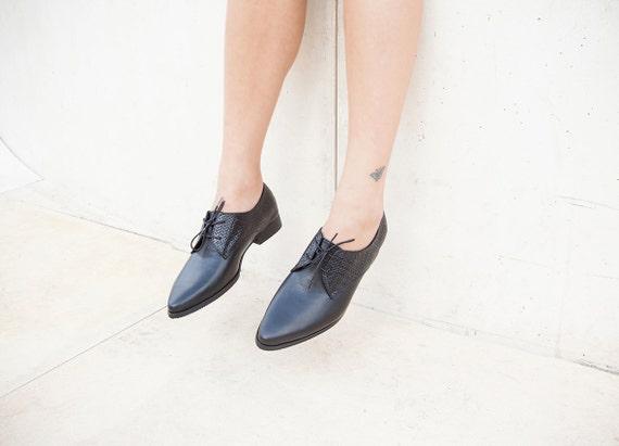 Custom Flats Shoes Women Leather Oxfords Black Comfortable Woven Black Shoes Oxford Women Flats Black Shoes Shoes Made Casual Elegant rIqqwXU