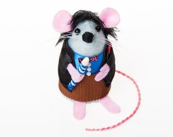 Doctor Who Mouse Patrick Troughton Doctor Who Mouse Artisan ornament gift for husband boyfriend brother men whovian dr who fan collector rat