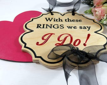 Wooden Wedding Sign - Wedding Ceremony - Custom Wedding Signs - Barn Wedding - Ceremony Sign - Ring Bearer - Modern Wedding - Boho Wedding