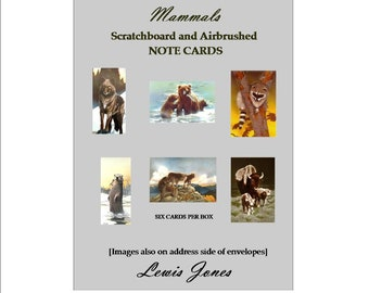 Mammals note cards