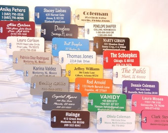 Personalized Custom Engraved Luggage Tags 24 Colors to Choose From.
