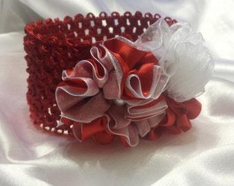 Girls Princess  Red and White  Headband