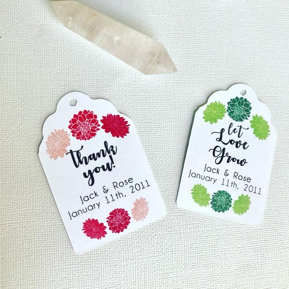 Let Love Grow Succulent/Floral Colors, succulent wedding favors, plant wedding favors, presents, party favors, succulent present, green