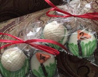 Golf chocolate covered oreos