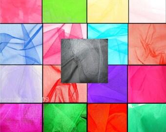 Tulle Netting Dress Fabric 140cm Wide 30 Colour Range - Flo Cerise