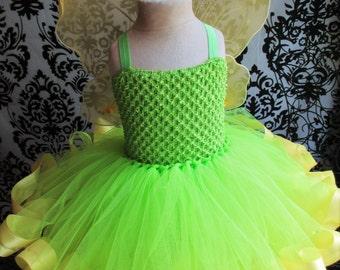 Green Fairy Costume/Green Fairy Dress/Fairy Ribbon Dress/Ribbon Tutu/Fairy Dress/Fairy Costume/Fairy Birthday/Baby Girl Dresses/Baby Fairies