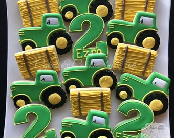 Farm Birthday Custom Decorated Cookies (simple)