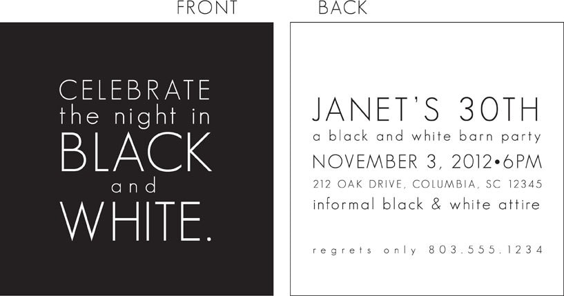 Black and white party invitation zoom stopboris Image collections