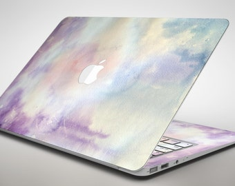 Purple 97 Absorbed Watercolor Texture - Apple MacBook Air or Pro Skin Decal Kit (All Versions Available)