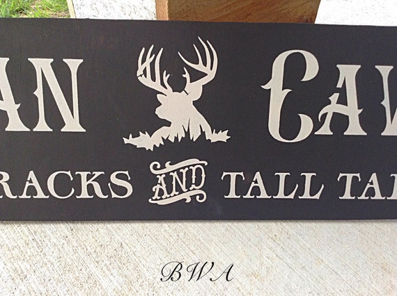 Hunters Man Cave Signs : Man cave sign deer hunting wood