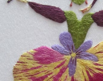 Hand embroidery kit,Grace,  or idea for Christmas present