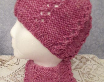 Warm and Rosy Close Cap and Neck Warmer
