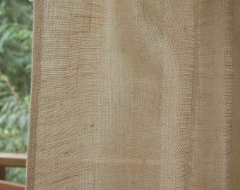 BURLAP FABRIC SAMPLE in Natural, Ivory or Off White color - Lined - Embroidered