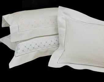 Boudoir Pillow Sham ONLY (Handmade Embroidery w/ Hemstitch)